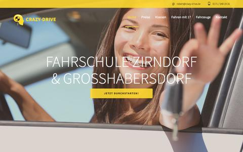 Screenshot of Home Page crazy-drive.de - Fahrschule Zirndorf Großhabersdorf - Crazy Drive - captured April 2, 2017