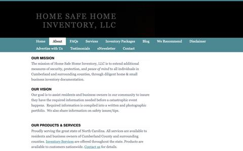 Screenshot of About Page homesafehomeinventory.com - About Home Safe Home Inventory - Home Safe Home Inventory, LLC - captured Nov. 10, 2018
