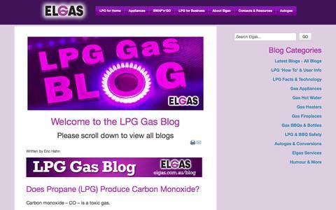 Screenshot of Blog elgas.com.au - LPG Gas Blog | ELGAS - LPG Gas for Home & Business - captured July 28, 2017