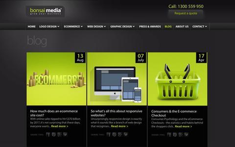 Screenshot of Blog bonsaimedia.com.au - Bonsai Media™ Blog for Website, Graphic & Logo Design Resources - captured Nov. 3, 2014