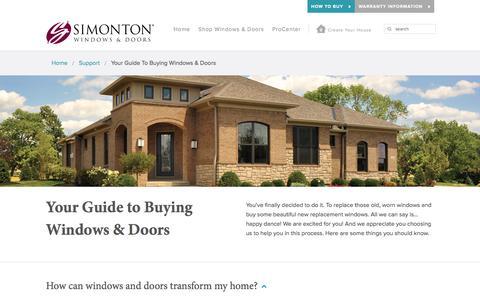 Screenshot of FAQ Page simonton.com - Your Guide to Buying Windows & Doors   Simonton Windows & Doors - captured Jan. 28, 2016
