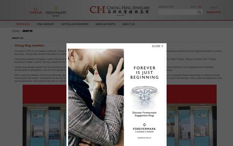 Screenshot of About Page chonghing.com - CHONG HING JEWELERS - captured Nov. 10, 2018