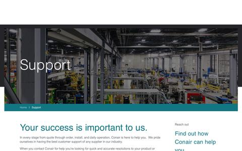 Screenshot of Support Page conairgroup.com - Product and Service Support   Conair - captured Sept. 29, 2018