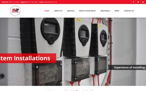 Screenshot of Home Page s2fire.co.uk - S2 Fire Solutions | Fire Alarm System Specialists | Fire Alarms - captured Sept. 30, 2018