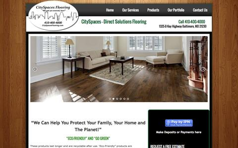Screenshot of Home Page dsfco.com - CitySpaces - Direct Solutions Flooring - captured Oct. 5, 2014
