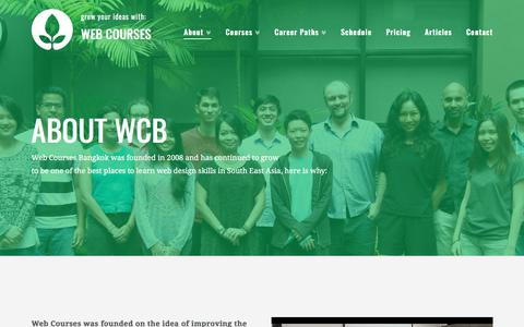 Screenshot of About Page webcoursesbangkok.com - About - Web Courses Bangkok - captured June 12, 2017