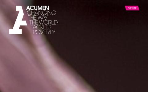 Screenshot of Home Page acumen.org - Acumen is a Bold New Way of Tackling Poverty - captured Jan. 24, 2016