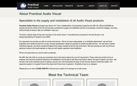 Screenshot of About Page practicalav.co.uk - Audio Visual Specialists - System Design and Installation Nationwide - captured Nov. 10, 2016