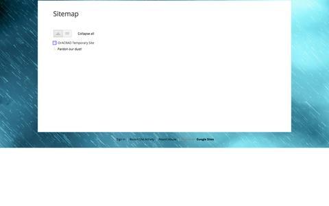 Screenshot of Site Map Page google.com - Sitemap - OrACRAO Temporary Site - captured Feb. 1, 2017
