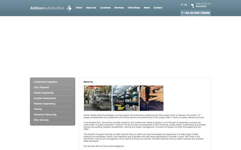 Screenshot of About Page aktrionautomotive.com - About Us - captured Oct. 4, 2014