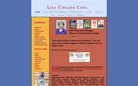 Screenshot of Home Page lisacolliercool.com - Lisa collier cool - captured Sept. 24, 2015