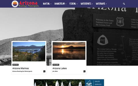 Screenshot of Home Page azbw.com - Arizona Boating and Watersports - Your home for anything boating, boonies and beyond! - captured Oct. 8, 2017