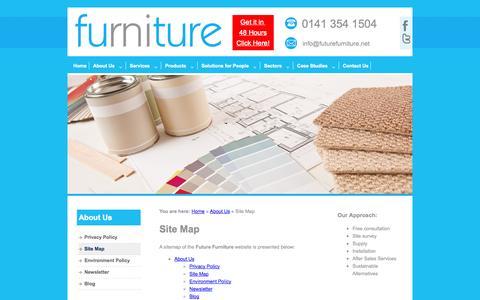 Screenshot of Site Map Page futurefurniture.net - Site Map | Future Furniture - captured Sept. 30, 2014