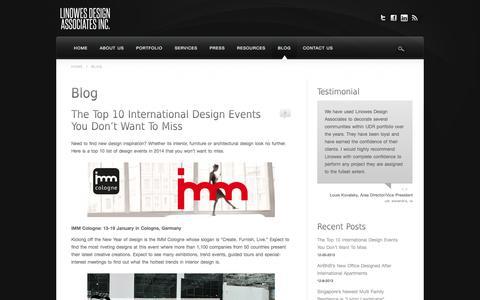 Screenshot of Blog linowesdesign.com - Blog - Linowes Design Associates - captured Oct. 2, 2014