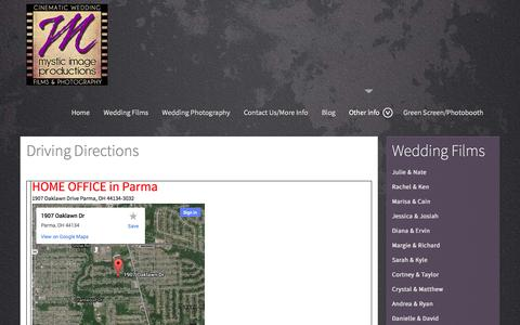 Screenshot of Maps & Directions Page mystic-image.com - Directions - captured Oct. 26, 2014
