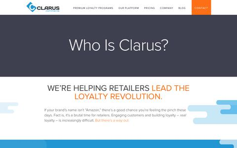 Screenshot of About Page claruscommerce.com - About Us | Clarus Commerce - captured Jan. 26, 2018