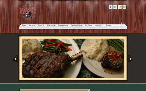 Screenshot of Products Page majestickc.com - Products «  The Majestic Restaurant and Jazz Club - captured Oct. 6, 2014