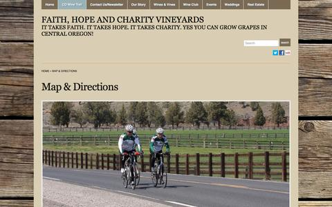 Screenshot of Maps & Directions Page faithhopeandcharityevents.com - Map & Directions « Faith, Hope and Charity Vineyards - captured Nov. 24, 2016
