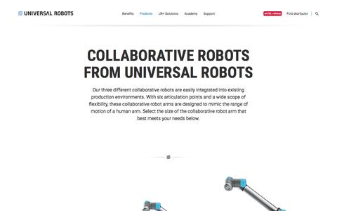 Collaborative robotic arms | Automation with Collaborative robots | UR