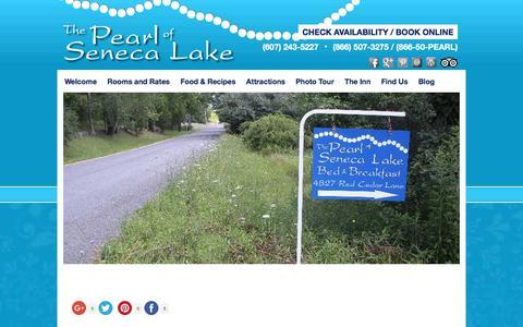 Screenshot of Contact Page Maps & Directions Page thepearlofsenecalake.com - Lodging Alternative to Hotels in Watkins Glen & Penn Yan - captured June 19, 2016