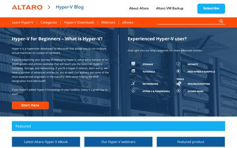 Hyper-V Hub - Altaro's Microsoft Hyper-V blog