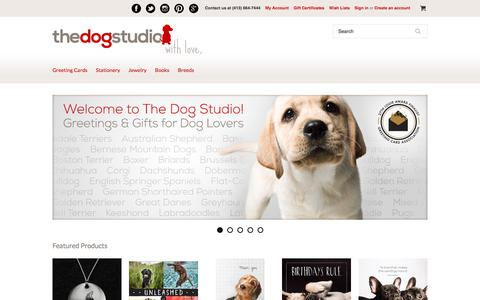 Screenshot of Home Page thedogstudio.com - Welcome to The Dog Studio | Greetings and gifts for dog lovers. - captured Nov. 7, 2017