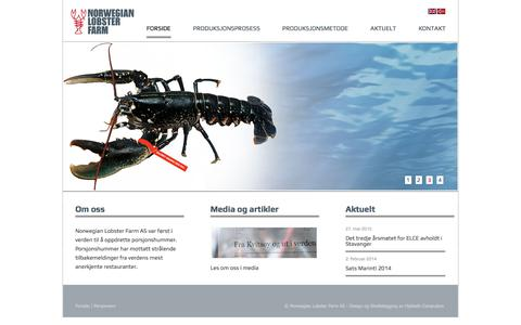 Screenshot of Home Page norwegian-lobster-farm.com - Norwegian Lobster Farm | - captured Nov. 14, 2017