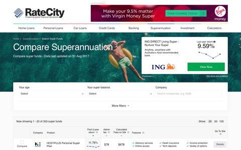 Compare 353+ Superannuation Deals | RateCity.com.au