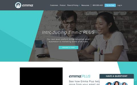 Screenshot of Home Page myemma.com - Email Marketing Software & Services   Emma, Inc. - captured Sept. 9, 2016
