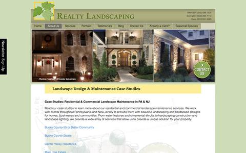 Screenshot of Case Studies Page realtylandscaping.com - Landscape Maintenance & Design Bucks-Montgomery: Case Study - captured Dec. 15, 2016