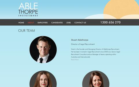 Screenshot of Team Page ablethorpe.com - Specialist Legal Recruitment Team | Ablethorpe Recruitment - captured Oct. 2, 2018