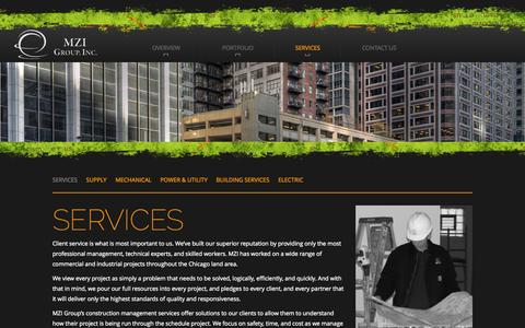 Screenshot of Services Page mzigroup.com - Services | MZI Group - captured Oct. 3, 2014