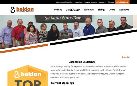Screenshot of Jobs Page beldon.com - Careers at BELDON® | Join Our Team! - captured July 18, 2019