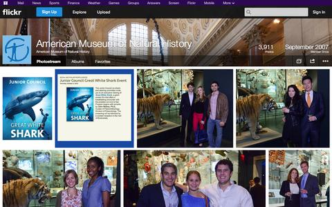 Screenshot of Flickr Page flickr.com - Flickr: American Museum of Natural History's Photostream - captured Oct. 23, 2014