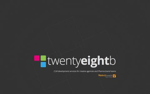 Screenshot of Home Page 28b.co.uk - twentyeightb - building your digital vision - captured June 10, 2017