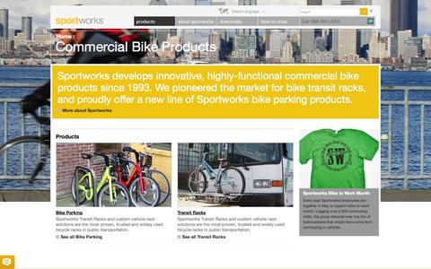 Screenshot of Products Page sportworks.com - Commercial Bike Products – Sportworks - captured Oct. 29, 2014