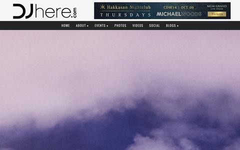 Screenshot of Press Page djhere.com - Press - DJhere.com - captured Oct. 5, 2014