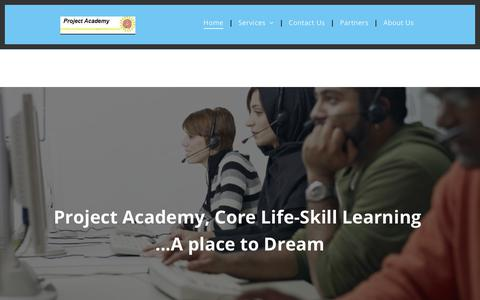 Screenshot of Home Page wolfsons.com - Supporting students in learning life-skills - captured Oct. 22, 2018