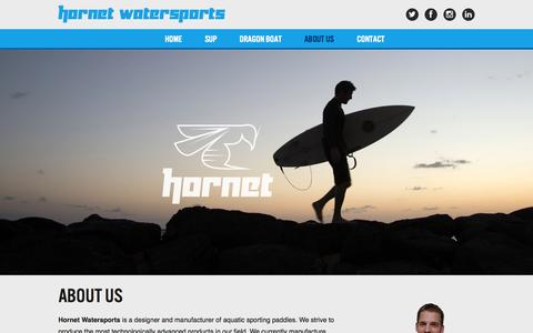 Screenshot of About Page hornetwatersports.com - About Us | Hornet Watersports - captured Oct. 27, 2014