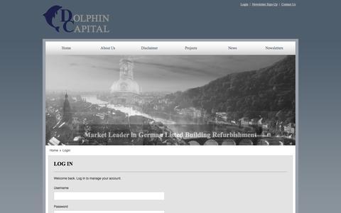 Screenshot of Login Page dolphinig.com - Login - captured Oct. 5, 2014