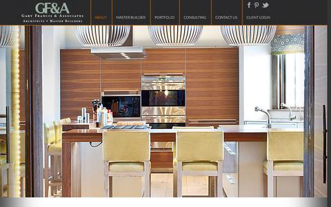 Screenshot of About Page gfarchitect.com - Gary Francis Architect and Master Builder In Park City, Utah | Gary Francis & Associates - captured Jan. 26, 2016