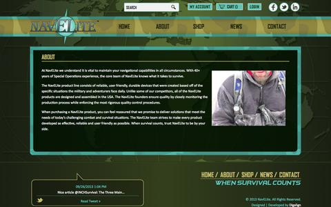 Screenshot of About Page navelite.com - About - captured Oct. 26, 2014