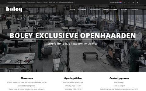 Screenshot of Contact Page boley.nl - Boley Openhaarden Contact Pagina - captured Feb. 7, 2016