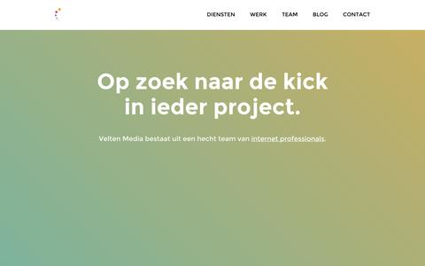 Screenshot of Home Page Press Page veltenmedia.nl - Velten Media - Internet professionals - Internetbureau Hengelo - captured Sept. 30, 2014