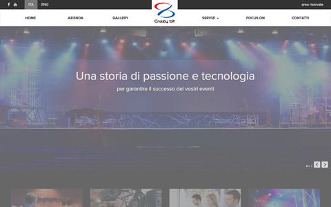 Screenshot of Home Page crazybit.net - Servizi tecnologici per eventi | Crazy Bit - captured Feb. 1, 2016