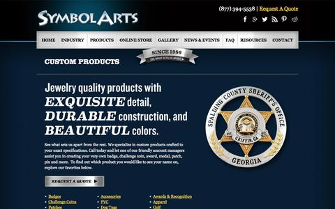 Screenshot of Products Page symbolarts.com - Get Custom Jewelry, Military Badges & Challenge Coins | SymbolArts - captured Oct. 30, 2014
