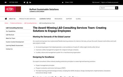 Screenshot of Team Page dupont.com - Custom Training and Development Team | DuPont Sustainable Solutions - captured Feb. 23, 2018