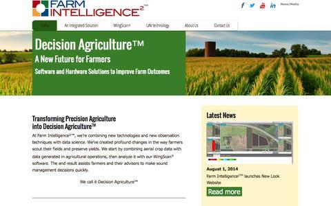 Screenshot of Home Page farmintelligence.com - Home   Farm Intelligence² - captured Jan. 21, 2015