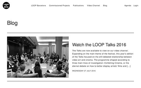 Screenshot of Blog loop-barcelona.com - Blog – Loop Barcelona - captured Oct. 8, 2016