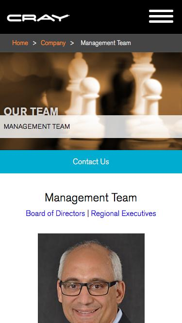 Screenshot of Team Page  cray.com - Cray Executive Management Team, Leaders in HPC - Cray